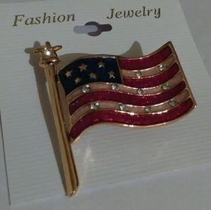 Jewelry - U.S.A. American Flag Pin/Brooch